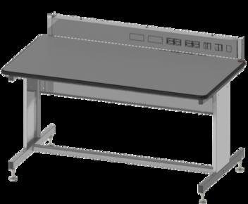 Arbeitstisch mit Stromleiste